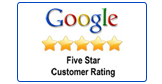 Google 5 Start Customer Rating